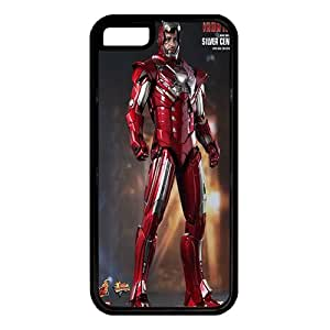 iPhone 5C case ,fashion durable Black side design phone case,Rubber material phone cover ,with Iron man .