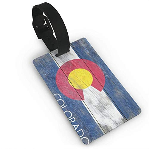 Colorado State Flag,Colorful Printed ID Tags Business Card Holder for,Luggage Baggage,Travel Identifier,Luggage Tags for Women Men Consignment Card