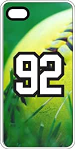 Baseball Sports Fan Player Number 92 Clear Rubber Decorative iPhone 4s Case