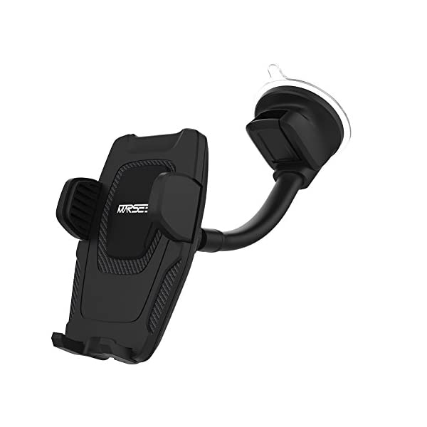 Marsee Car Phone Mount, Windshield Mount/Dashboard Mount Car Phone Holder With Gravity Self Locking One Touch Design And…