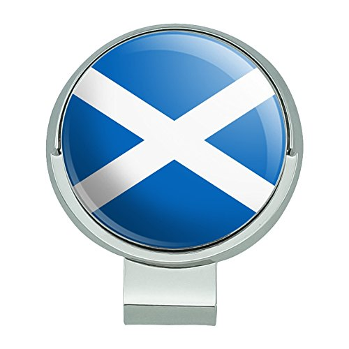 GRAPHICS & MORE Scotland Scottish Country Flag Golf Hat Clip with Magnetic Ball Marker