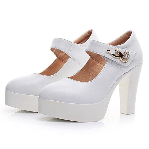 Negro zapatos alto de zapatos los Taiwán grandes de 42 grueso alto blanco cuero zapato impermeables tacón con con 43 única de hembra 40 8cm hembra números rUqxXT6rw