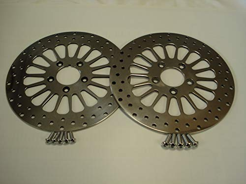 FOR 1984-2014 HARLEY FLSTF FATBOY 11.5 FRONT & REAR BRAKE ROTORS W/FREE BOLTS