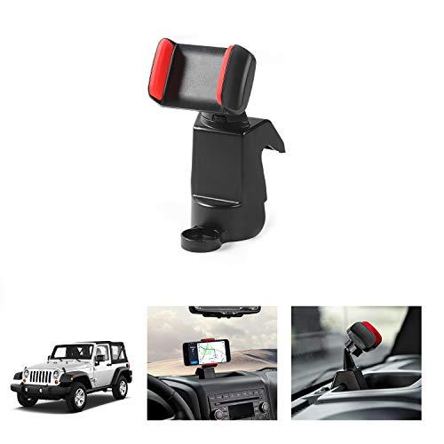 Universal 360 Degree Car Mount Phone Holder for Phone Cellphone Mount for 2012-2017 Jeep Wrangler JK JKU ()