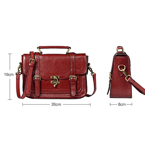 Lavoro Nero Borsello Leathario Vera per Borsa in Rosso Donna da Weekend Fashion a Pelle Spalla a Estate Tracolla aw44rdqZ