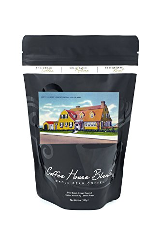 Chatham, Cape Cod, MA - Exterior View of Joseph Lincoln's Home (8oz Whole Bean Small Batch Artisan Coffee - Bold & Strong Medium Dark Roast w/Artwork)