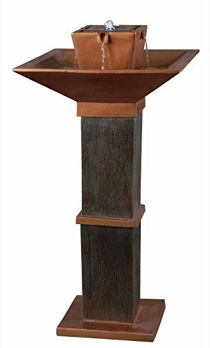 Kenroy Home 50067CBZ Kenei Outdoor Solar Fountain - 40 inch Height, 21 inch width, 21 inch Ext Copper Bronze finish Pair with other members of the kenei family - patio, fountains, outdoor-decor - 41kkDFjmaML -
