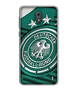 ColorKing Football Germany 09 Green shell case cover for nokia 2