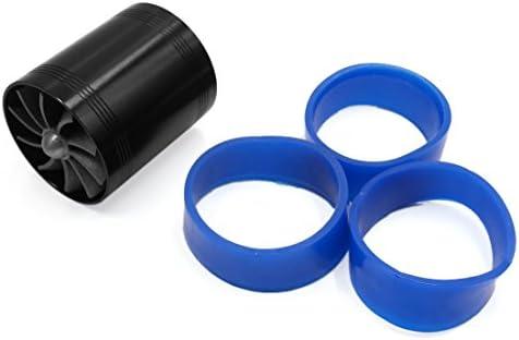 Sourcingmap - ® Negro Doble Ventilador Coche Turbonator Admisión de Aire turbina Turbo W 3 Goma Loop: Amazon.es: Coche y moto