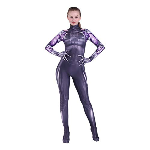 Halloween Kids Alita Cosplay Costume 3D Printed Skin Tight Suit S 120cm]()
