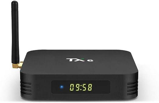 HCDMRE TX6 Android 9,0 TV Box, Android Box 4GB DDR3 RAM 64GB ROM BT 5.0 Dual WiFi 2.4 G + 5G Quad Core 1080p 4K HDR Smart TV Media Box: Amazon.es: Hogar