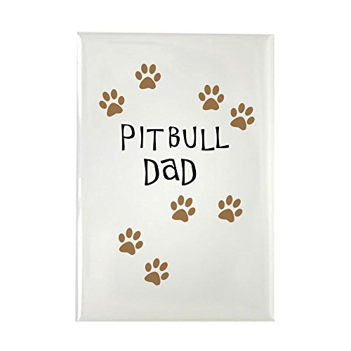 CafePress Pitbull Dad Rectangle Magnet, 2