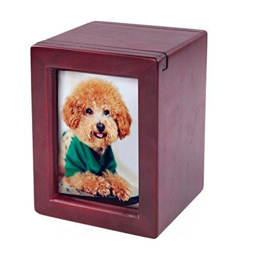 Pet Wood Urn, Pet Urn Peaceful Pet Memorial Keepsake Urn, Photo Box Pet Cremation Urn, Dog Urn, Cat Urn, Small Animal Urn ()