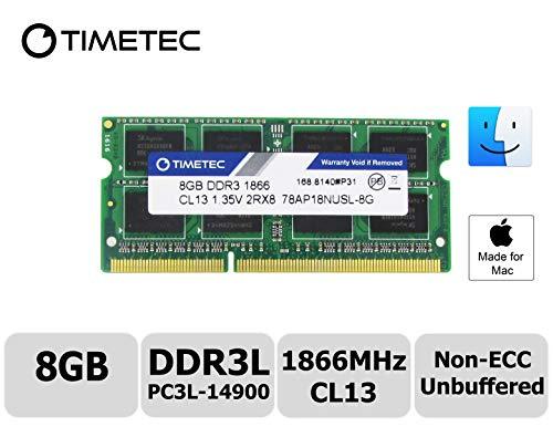 Timetec Hynix IC Apple DDR3L PC3L-14900 1866MHz for IMac 17,1 W/Retina 5K Display (27-inch Late 2015) A1419 (EMC 2834) MK462LL/A, MK472LL/A, MK482LL/A (8GB)