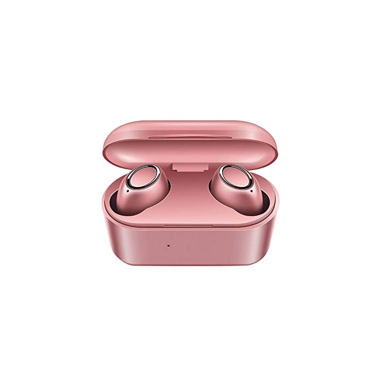 CAheadY Portable 3D Stereo Sports Rechargeable Wireless In-ear V5.0 Bluetooth Earphones Headset Headphone Rose Gold