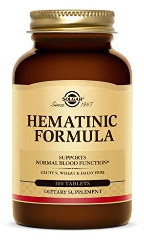 Solgar Fórmula Hematínica Comprimidos - Envase de 100
