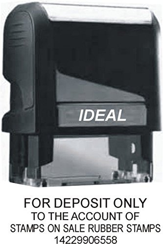 "Custom ""For Deposit Only"" Stamp - Up to 4 Lines - Ideal 4912"