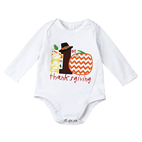 Goddessvan Newborn Baby Girls Floral Unicorn Polka Dot Long Sleeve Romper Clothes