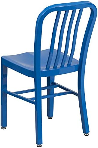 patio, lawn, garden, patio furniture, accessories, patio seating, chairs,  patio dining chairs 5 discount Flash Furniture 2 Pack Blue Metal Indoor-Outdoor in USA