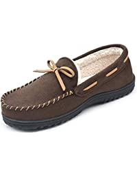 Men's Sherpa Lined Memory Foam Moc Slipper