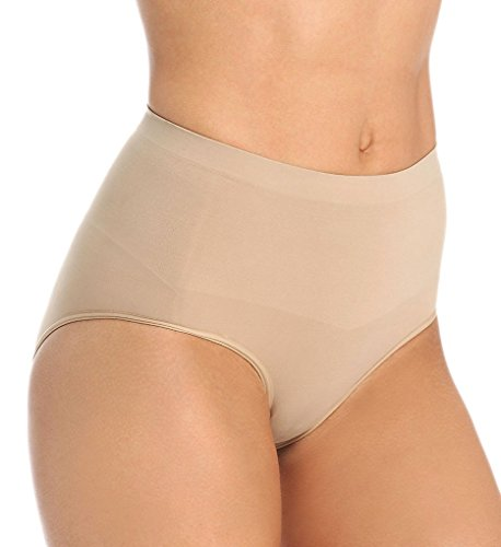 Body Wrap Lites Moderate Control Hi-Cut Brief Shapewear (L Nude) ()