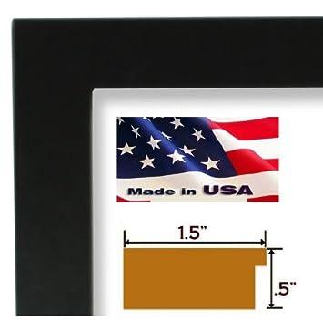 24×36 Lion Of Judah, Black Art Print Poster Framed with 1.5 Flat Black Wood Composite MDF Frame 24x36LOJ1.5