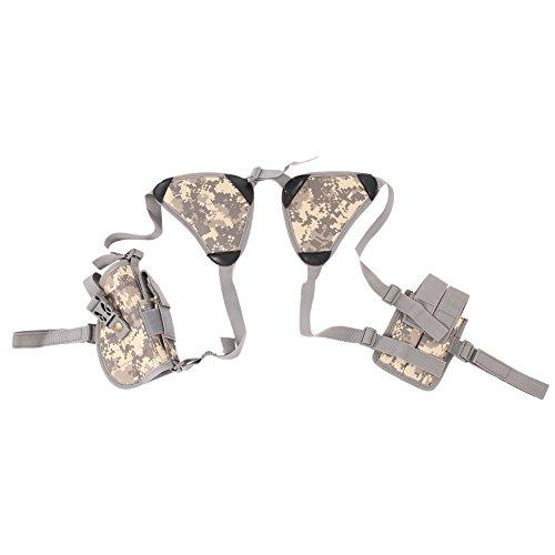 Shootmy Maximum Comfort Horizontal Gun Shoulder Holster for Pistol/Flashlight/Laser With Adjustable Size and Padded Shoulder
