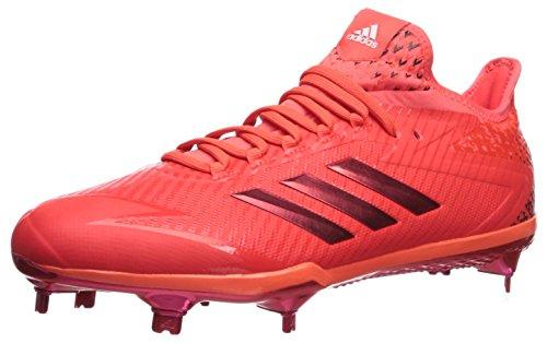 (adidas Men's Adizero Afterburner 4 Baseball Shoe, Solar red, FTWR White, 13.5 M US)