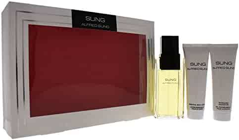 Sung by Alfred Sung for Women - 3 Pc Gift Set 3.4oz EDT Spray, 2.5oz Essential Body Lotion, 2.5oz Refreshing Shower Gel.