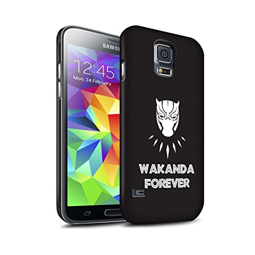 STUFF4 Matte Hard Back Snap-On Phone Case for Samsung Galaxy S5/SV/Wakanda Forever Design/Black Panther Inspired Collection (Cell Panther S5 For Phone Case)