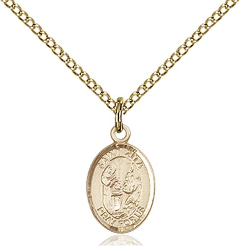 Sterling Small Servers (VERY SMALL CHILDRENS JEWELRY / 14kt Gold Filled St. Zita Pendant / Gold Filled Lite Curb Chain / Servers/Waiters)