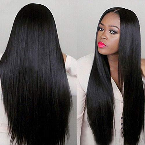 Hot Sale! Women Long Wig,Fashion Black Straight Natural Hair Cosplay Synthetic Full Wigs Costume -
