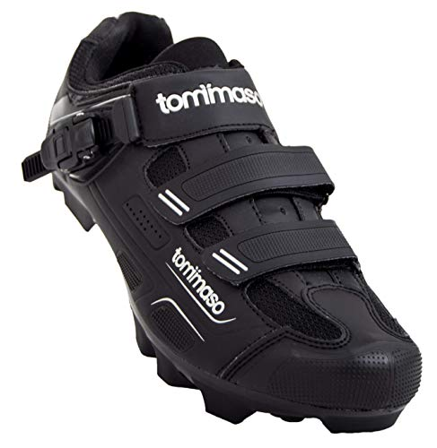 Tommaso Montagna 200 Men's Mountain Bike MTB Cycling Shoe with Buckle Compatible with SPD Cleats Black