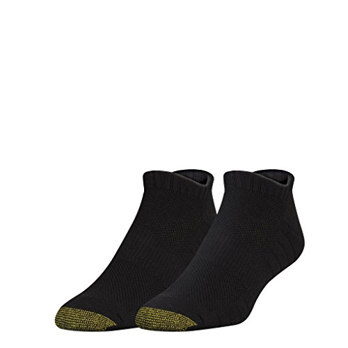 Soleution No Show Socks with Tabbed Back, 2 Pairs, Black, Shoe Size: 6-12.5 (Gold Toe Bamboo)