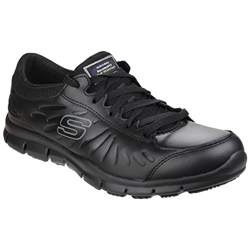Eldred Ladies Occupational Lace Slip Resistant Womens Work Black Shoes Skechers Up Et6xwq4E1