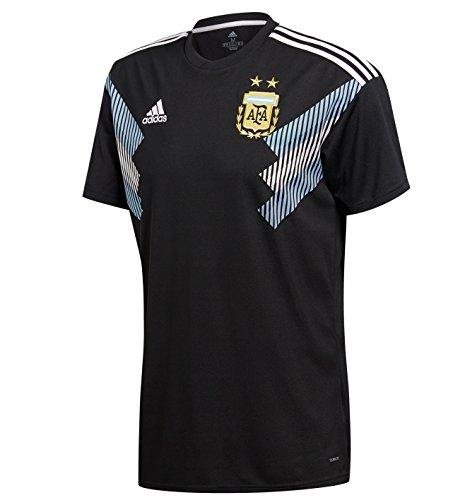 soccer argentina away jersey black