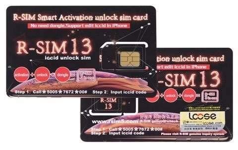 RSIM 13 Smart Activation Unlock SIM Card All iPhone jusqu'à X ET Phone 8 Plus