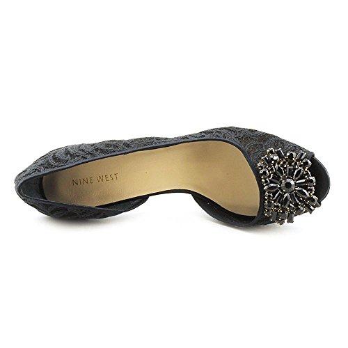 Nine West Zennia - Zapatos de vestir de lona para mujer negro negro Blk/Blk