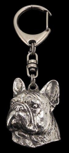 French Bulldog, Silver Hallmark 925, Silver Dog Keyring, Keychain, Limited Edition, Artdog by Art Dog Ltd.