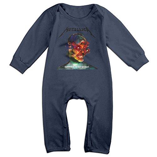 YOG MILK Metallica Hardwired To Self-Destruct Newborn Toddler Infant Baby Romper Jumpsuit Bodysuit Clothes (Captain Kirk Outfit)