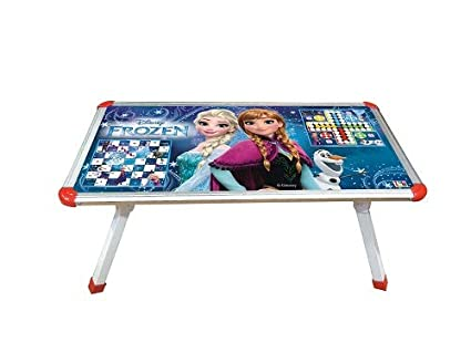 2b8541d2b IndusBay Frozen Theme 2 in 1 Kids Multipurpose Foldable Bed Study Table Cum Laptop  Table with Board Game Table Ludo Snake   Ladder for Kids - Buy IndusBay ...