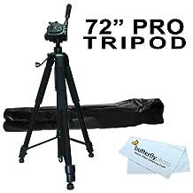 "Professional 72"" TRIPOD FOR All Canon Sony, Nikon, Samsung, Panasonic, Olympus, Kodak, Fuji, Cameras And Camcorders + BP MicroFiber Cleaning Cloth"