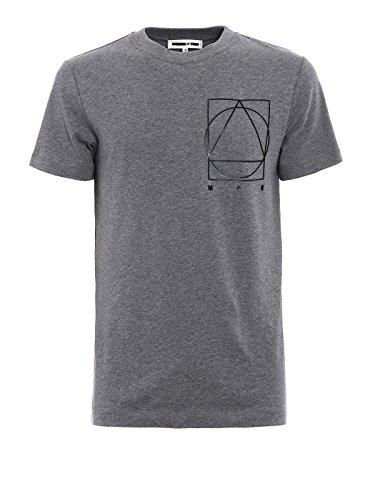 Alexander McQueen Men's 277605Rit181236 Grey Cotton T-Shirt