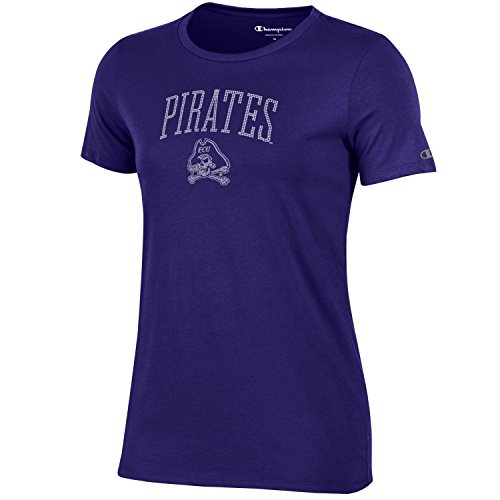 - Champion NCAA Women's University V-Neck 1, East Carolina Pirates, Medium