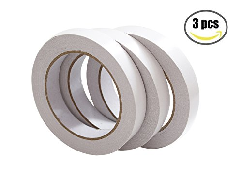 Double Stick Tape Double Sided Tape(18mm x 25m,3 Rolls)