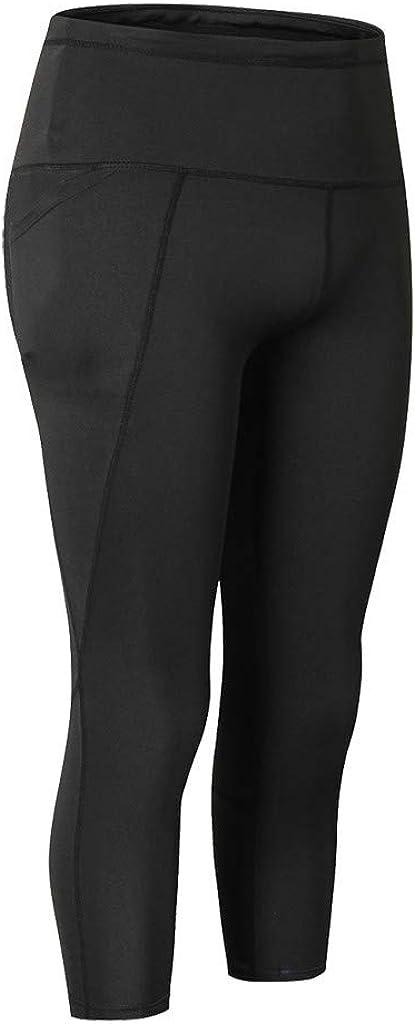 ZEFOTIM Casual Pants for Womens High Waist Yoga Short Abdomen Control Training Running Yoga Pants