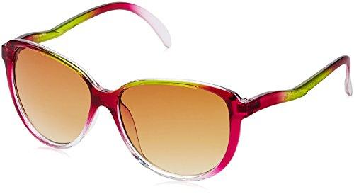 Funky Fish UV Protected Oversized Unisex Sunglasses – (K-55_B_7297473077711|55|Pink lens)