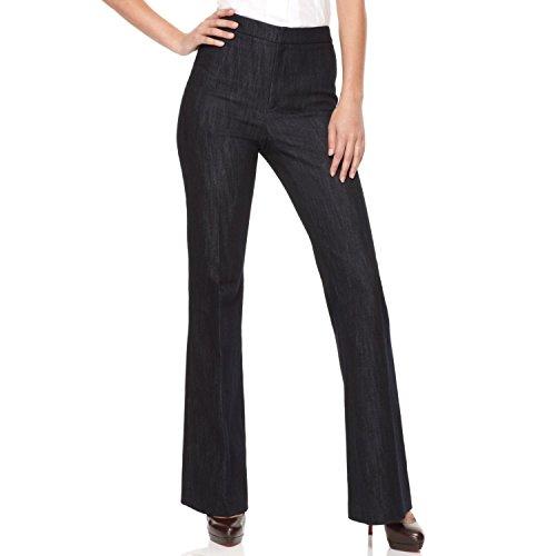 Ellen Tracy Womens Linda Curvier Fit Indigo Wash Jeans Blue 8