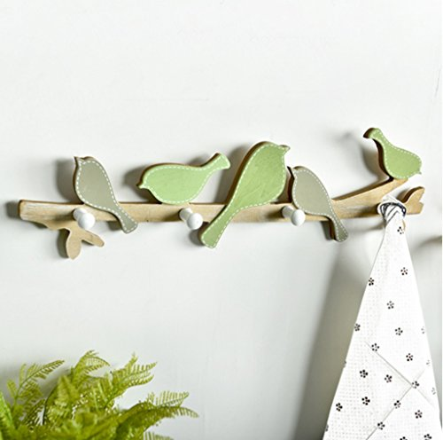 Clothes hook American Countryside Bird Creative Entrance Porch Fitting Room Hook Wall-mounted Key Frame Decorative Coat Hook by Clothes hook (Image #2)