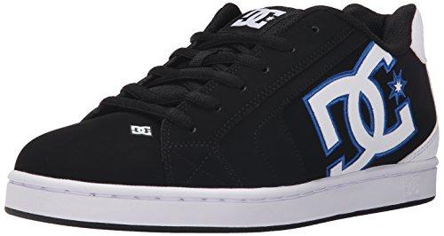 DC Net M - Zapatillas de deporte de cuero nobuck para hombre Negro/Blanco/Azul